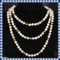 8mm la última perla agradable encanto de la moda de la joyería africana shell collar de perlas