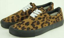 Hombres moda de nueva estampado de leopardo zapatos de lona