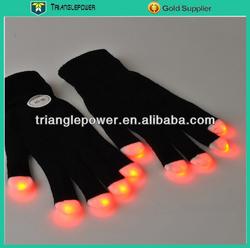 Cheap Colorful LED Gloves, Rave Lighting Up Gloves, finger Light Glove