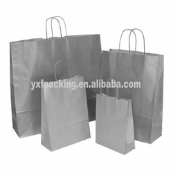 Metallic color craft shopping paper bag,craft paper bags