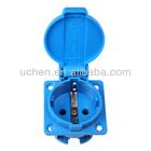 german schuko socket plug European waterproof receptacle waterproof outlet IP44 Europe & German socket