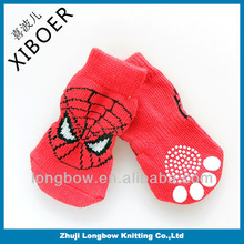 2014 Fascinating design well knitted red cotton dog socks non-skid pet sock