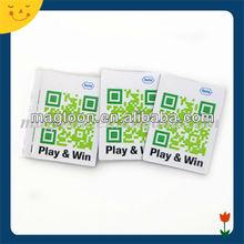 Promotional advertising QR printing paper fridge magnet