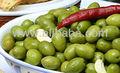 """"""" Nocellara ETNEA """" WHOLE verdes siciliano olivos en salmuera"""