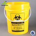 5 galões química balde de plástico com bico e tampa