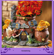 giardino giardino resina fata casa con decorazione vaso di fiori
