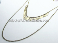 YN5056 multi layer models of long chains necklace fake gold chain