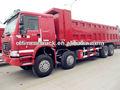 2012 utilizado howo camión volquete 8 x 4 venta