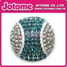 New porduct!!Fashion clear Rhinestone tennis ball Button