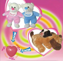 Heartbeat chip for stuffed toy animal