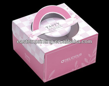 Pink Paper Cake Box With Handle