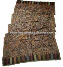 Indian Antique mantones de diseño en 100% de la cachemira