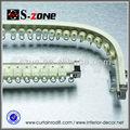 En aluminium courbe gd45-01 double rideau de piste en couleur ivoire blanc