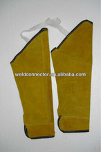 crew neck leather welding joint sleeves