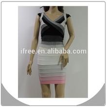 most lovely dress color gradual change 2014 ladise fashion dress