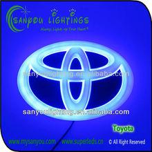 Newest led car badge light/auto badge light/led car badges emblems 12V toyota