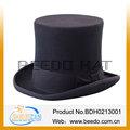 Blackt altos sombreros de copa con buena forro y 15 cm altura y cuero sweatband