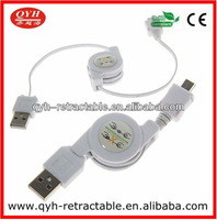 77cm White Retractable USB Micro Data Charger Cable Lead Cord for Amazon Kindle 2 3 DX