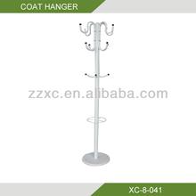 Metal stand cloth rack and coat hanger XC-8-041