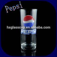 240ML Famous Brand PEPSI Machine Pressed Glass Tumbler