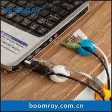 6pcs Multi-Purpose Design Cabledrop Cable Clip Line Fixer Organizers White Black Brown new product