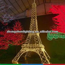 Eiffel Tower! Big Commercial Pubilc Decoration 3d Led Holiday Motif Light