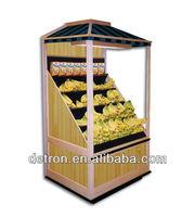 supermarket wood banana display rack for sale