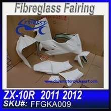 For KAWASAKI ZX10R 2011 2012 Race Fairings kit Fiberglass FFGKA009