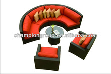 outdoor section rattan/wicker round sofa furniture