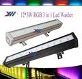 La venta caliente! 36w led arandela de la pared 12 pc rgb 3 en al aire libre 1 dj led barra de luz
