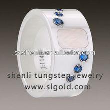 12mm White Ceramic custom female ring