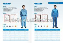 Electric arc flash workwear with ATPV test report