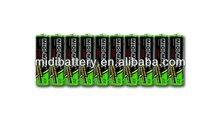 High capacity 1.5V LR6 AA dry battery