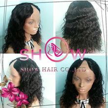2013 New Fashion Wig 100% Brazilian human hair u part wig tangle free and no shedding remi u part wigs