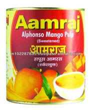 Amraj Alphonso Mango Pulp (USD 2.30 FOB PER 850 GMS TIN)