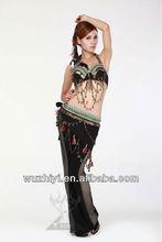 Hot New Tribal Sexy Arab Belly Dance Wear,Bra+Belt Suit, Performance Dress for Dancer (QC0512