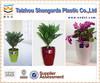 mini bonsai pot,round garden pot,colorful plastic plant pot
