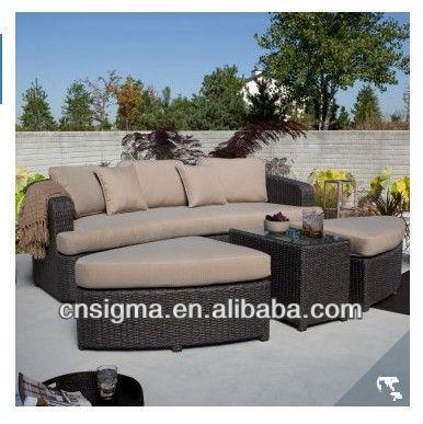 Nieuwe aankomst nieuw ontworpen 2015 ruimtebesparende luxe rotan tuin sofa luxe moderne terras - Moderne buitentuin ...