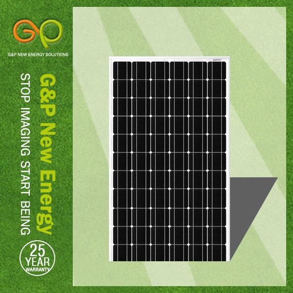 G&P A-grade cell high efficiency 260W mono solar panel