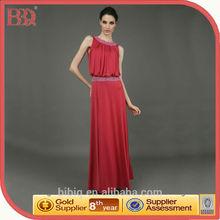 2014 New Women Trendy Sleeveless Beaded Peplum Pleated kaftan Maxi Chiffon Evening Dresses