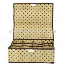 Polka Dots Pattern Folding 16-Component Non-woven Fabrics Storage Box