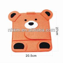 2013 Fashion Rilakkuma Bear Felt Tablet Case Felt Sleeve Case