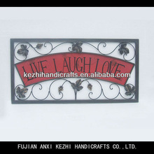 unique rectangle wall art with live laugh love