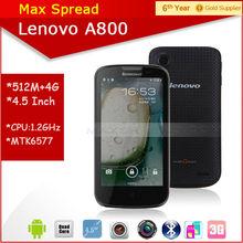 Lenovo A800 4.5'' touch screen mobile phone 1.2GHz dual core dual sim multi language