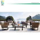 Outdoor sofa Garden leisure set Latest trendy rattan table set