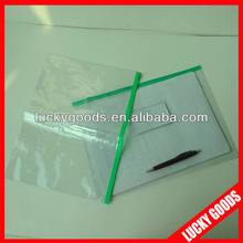 Transparent PVC pouch for documents and name card