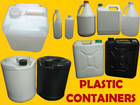 Liter, Gallon, Carboy Plastic Containers (BRAND NEW)