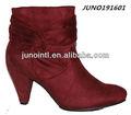Mulheres de salto alto recortes botas tamanho grande, Mulheres Denim botas 2014, Botas vermelhas