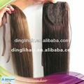 100 % virgen del pelo humano del pelo cola de caballo de extensión para las mujeres negro