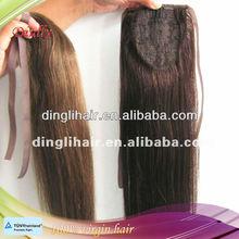 100 % virgin human hair ponytail hair extension for black women